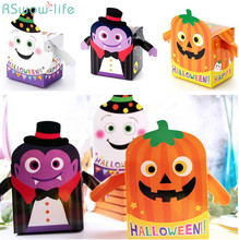 2pcs Halloween Cookie DIY Box Pumpkin Ghost Food Snack Candy Bag Festival Party Supplies