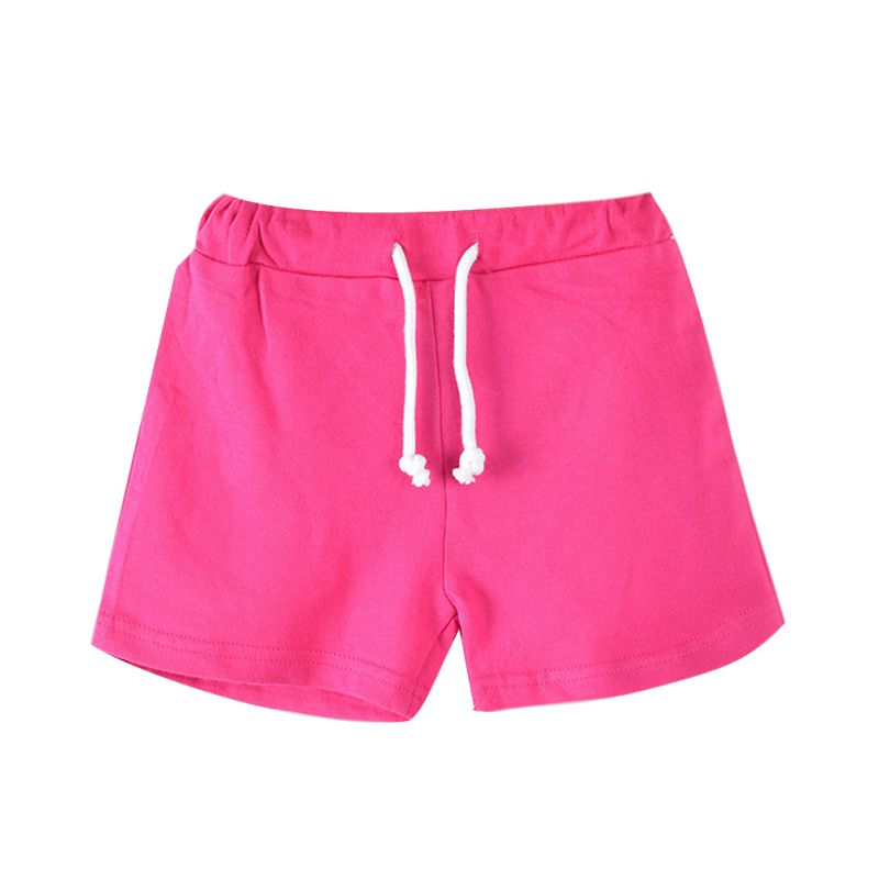 3-13Y Boys Beach Pants Kids Trousers Summer Pure Candy Color Girls   Shorts   Comfortable For Dressing