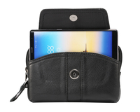 Horizontal Belt Clip Cell Phone Genuine Leather Case Pouch For Galaxy S8 S8 PLUS S6 EDGE