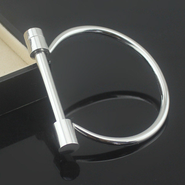 Top sale good quality horseshoe shaped plain stainless steel bangle for men/women