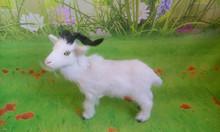 simulation sheep model toy,polyethylene&furs 23x20cm white goat toy,home decoration,Xmas gift c528