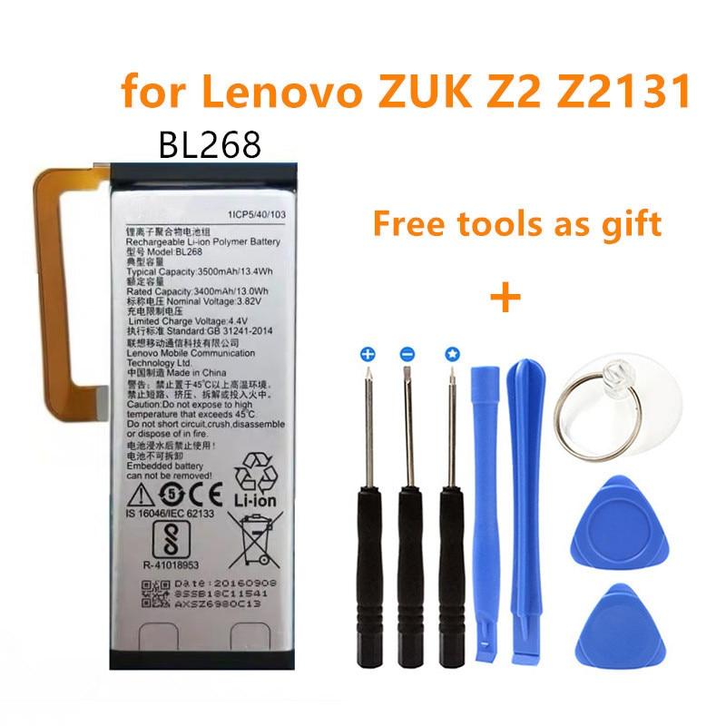 BL268 Phone Lithium Bateria Replacement Built-in Battery 3500mAh Batterij for Lenovo ZUK Z2 Z2131 batteries+Free tools