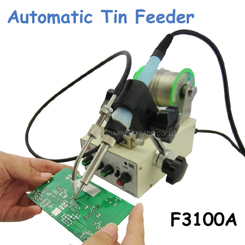 1pc Automatic Tin Feeding Machine Constant Temperature Soldering Iron Teclast Iron F3100A automatic tin feeding machine constant temperature soldering iron teclast multi function foot soldering machine f3100a