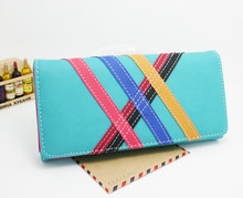 New Arrival Fashion women wallet PU leather Striped lady handbags coin purse  Wholesale Long clutch female df7e5c7ac969