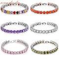 Fashion Cubic Zirconia Bracelet Tennis Zircon Bangle Wedding Chain Gift Jewelry B361 B419 B492 B495 B638 B650