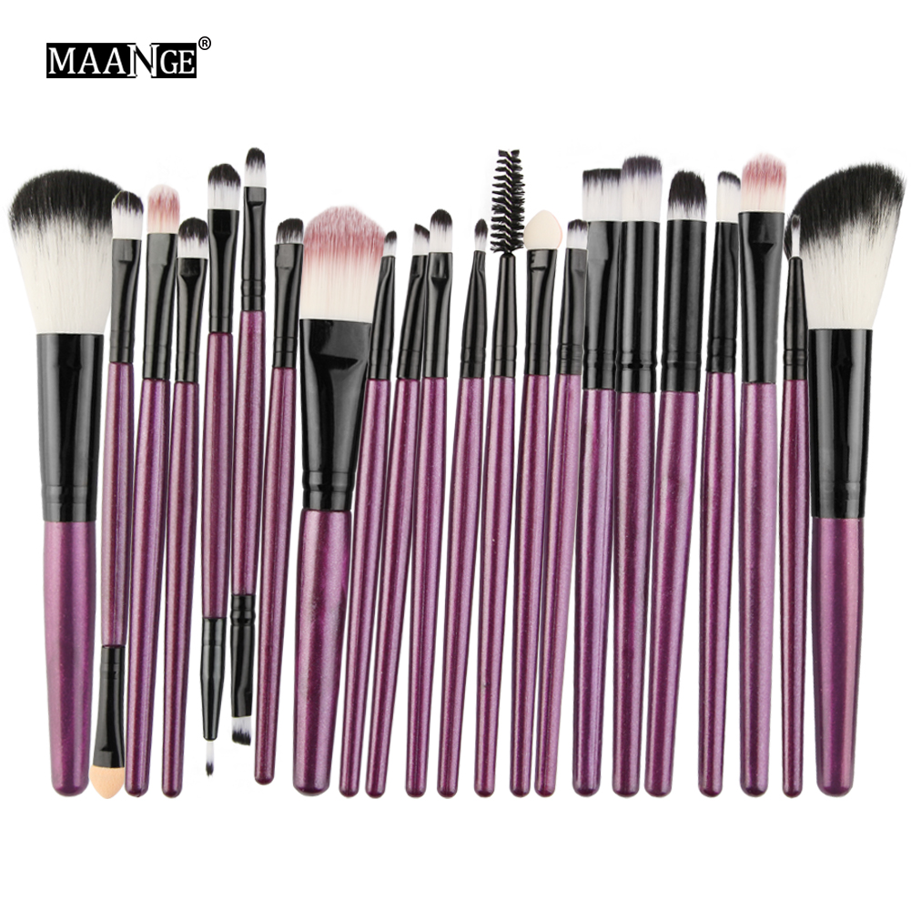 MAANGE Pro 22Pcs Makeup Brushes Set Comestic Powder Foundation Blush Eyeshadow Eyeliner Lip Beauty Make up Brush Tools Maquiagem 1 4pcs cosmetic makeup brushes set eyebrow eyeliner eyelashes lip makeup brush kits eyeshadow blush brushes pinceis de maquiagem