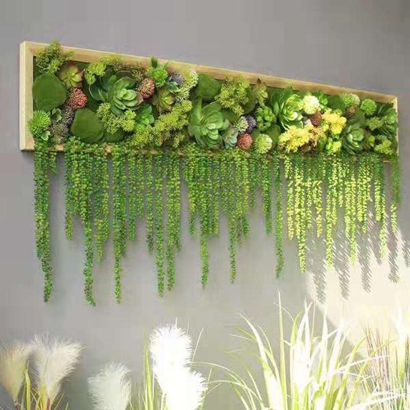 50 pcs 78 cm artificielle fleur chaîne PU fausse larme d'amant tenture murale plante succulentes jardin couronne maison mariage décoration