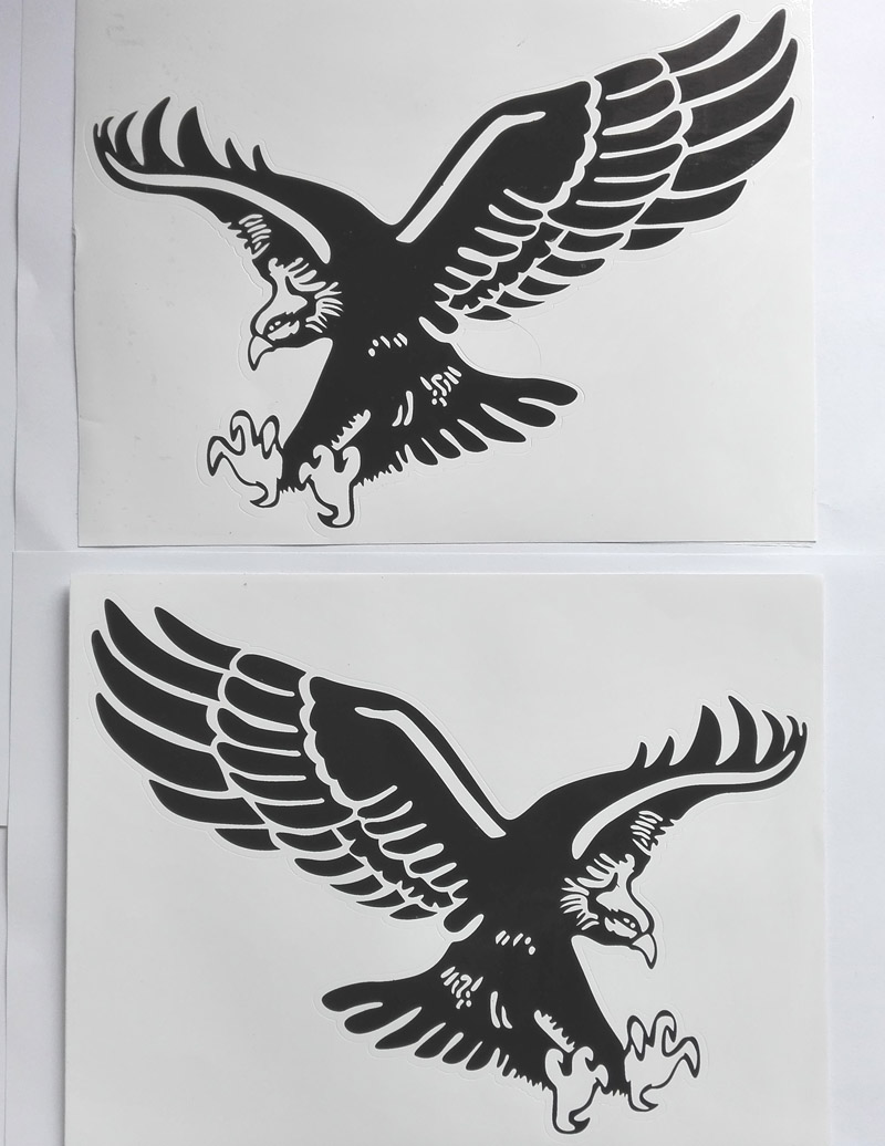 Car sticker eagle - 1 Pair 24cm Flying Eagle Decal Car Sticker Peel And Stick