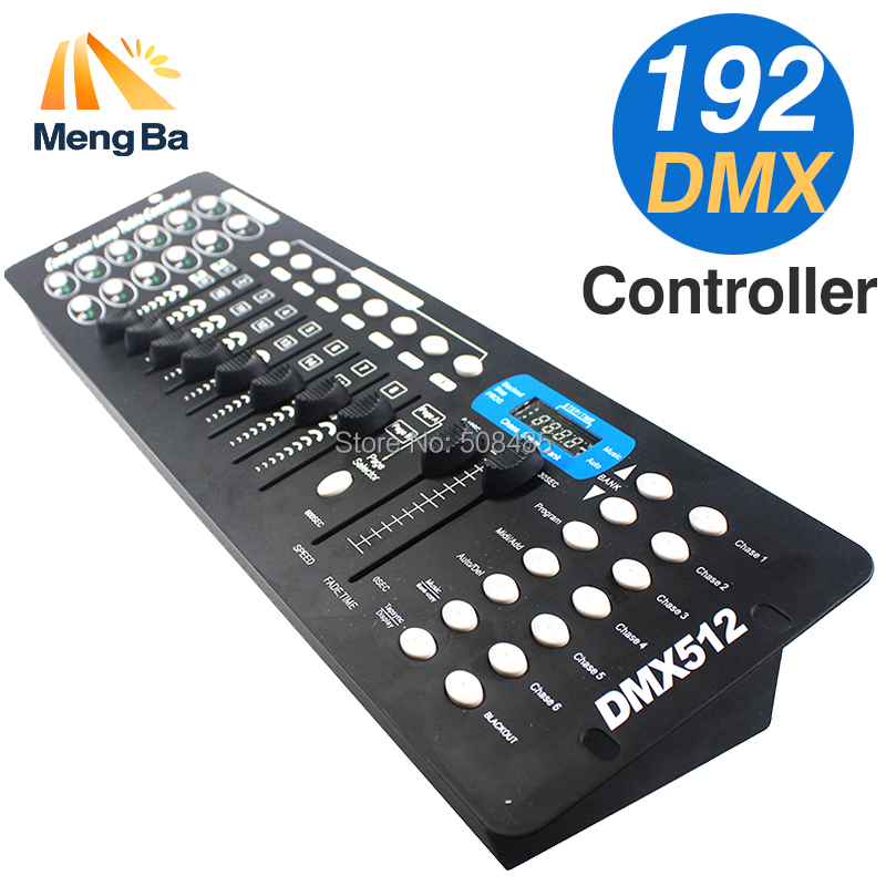 Free shipping NEW 192 DMX Controller Stage Lighting DJ equipment DMX Console for LED Par Moving Head Spotlights DJ Controller dhl free shipping 54ch mini dmx controller console dj console dj controller dj lighting controller 9v battery 12v dc powered