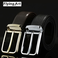 Hot Gold And Silver Belt Buckle Fashion High Quality Leather Men S Belt Head Layer Cowhide