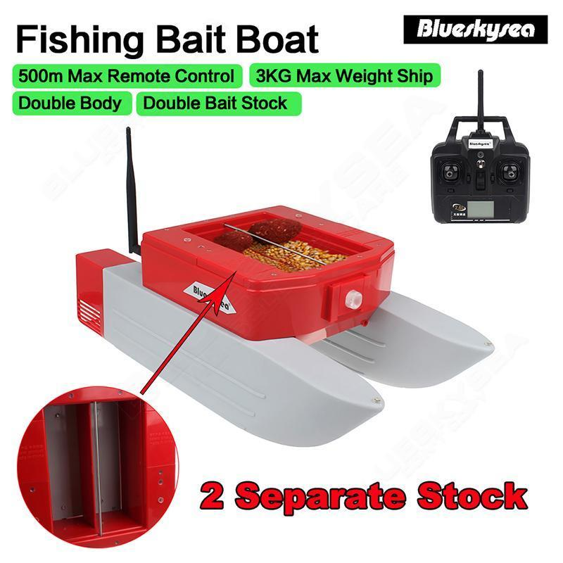 500M Remote Control RC Boat T168 RC Fishing Bait Lure Carp Boat Watercraft 3kg Double Stock Bearing For Fish Finder mini fast electric fishing bait boat 300m remote control 500g lure fish finder feeder boat usb rechargeable 8hours 9600mah