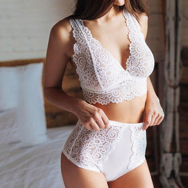 Sale Sexy Women's Lace lingerie Sleepwear Bras Corse Home & Living Lace Bra Brief Set Suit Underwear