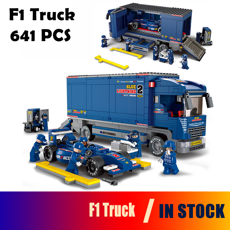 Model building kits 0357 compatible with lego city f1 truck 821 3D blocks Educational model & building toys hobbies for children кроссовки nike кроссовки nike free rn gs