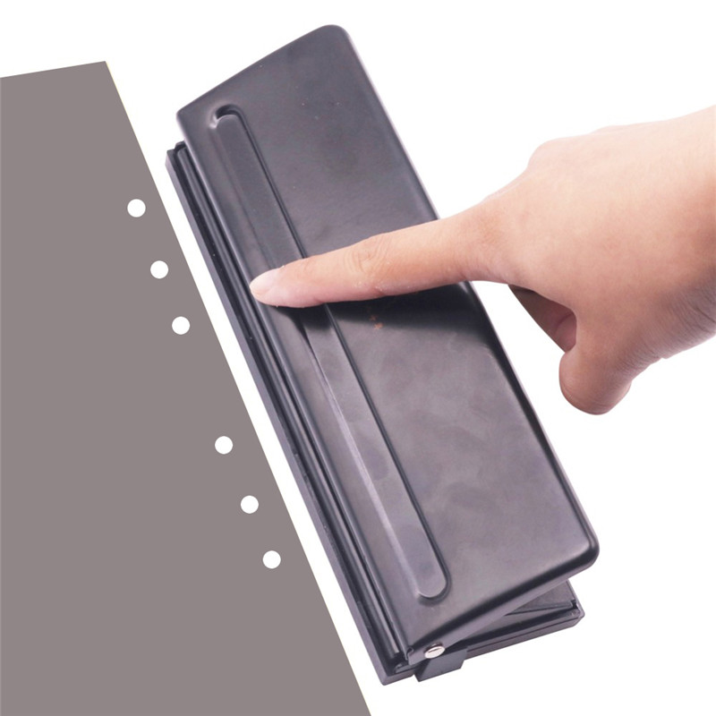 1 Pcs 6 Holes Puncher Standard Punch Office Binding Supplies Student Stationery Office Binding Equipment Good Tool
