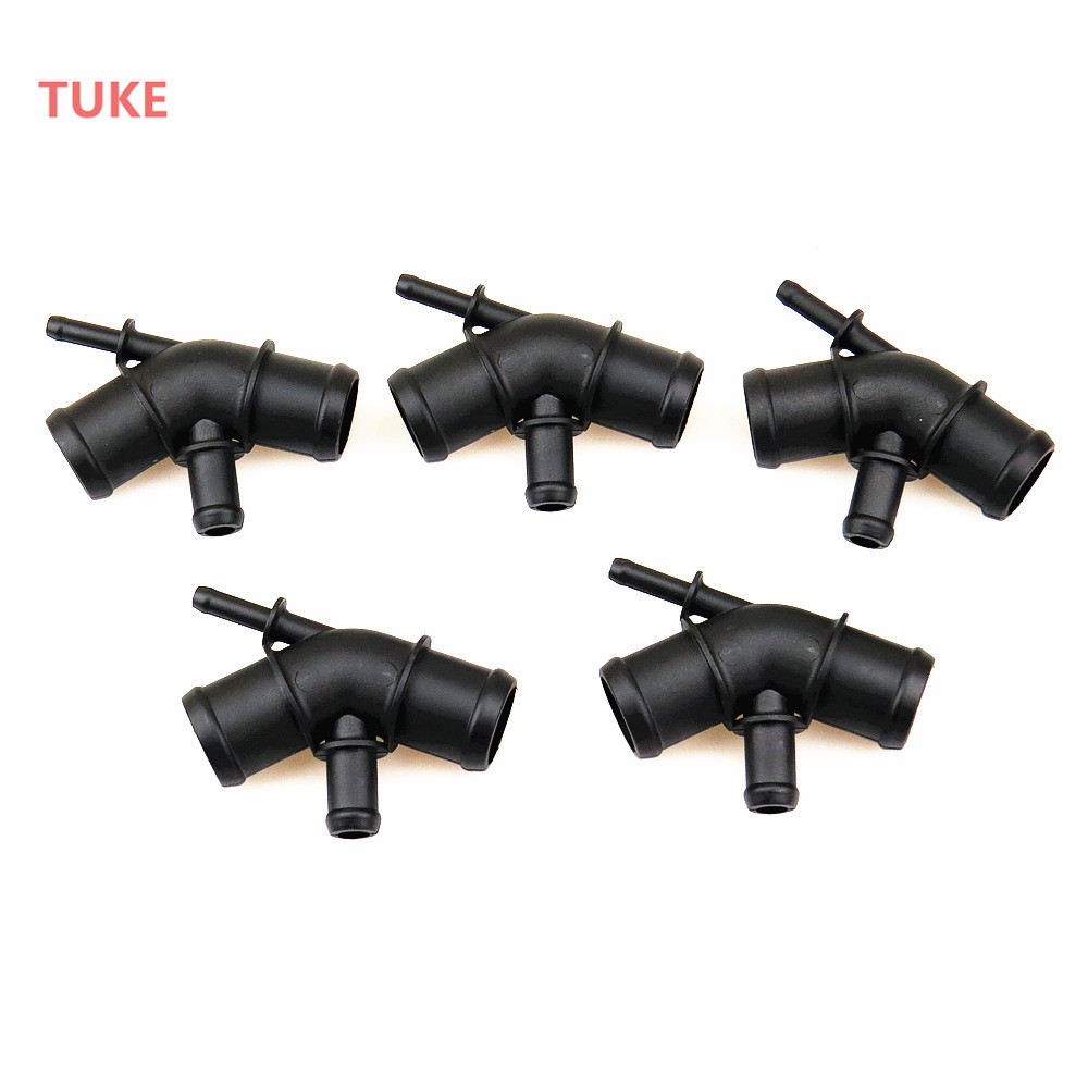 TUKE 1.8T Engine Cooling Heat Dissipation Hose Connector For VW Beetle Bora Golf Jetta MK7 A3 Seat Leon 1J0 121 087 C 1J0121087C