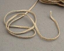 5m Natural Burlap braided rope Hessian Jute Twine Cord Hemp Rope String Rustic Wrap Gift Packing String Wedding Decoration