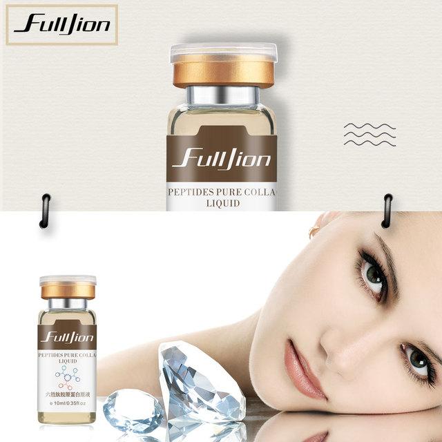 Fulljion Pure Collagen Protein Liquid Six Peptides Hyaluronic Acid Moisturizer Skin Care Anti-Wrinkle Anti Aging Face Lift Serum