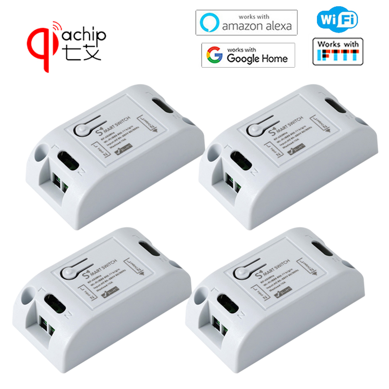 QIACHIP 433Mhz RF Relay Module 2.4Ghz Smart Home Wifi Wireless Automation Timer Remote Controll Switch 1/2/4
