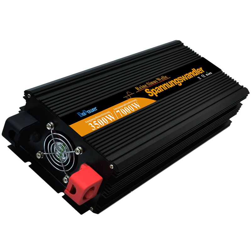 pure sine wave power solar inverter DC 12v to AC 220 V Real 3500 watt 7000w