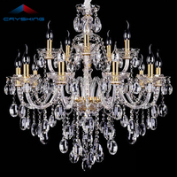Top Luxury Free Shipping 15 Arms Large Crystal Chandelier Lustre Home With 100 K9 Crystal P