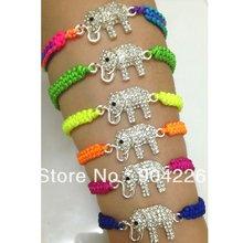 wholesale elephant kids  children  gift animal 1 lot   15 bracelets jewelry  shamballa bracelet 63bd3b7b2eca