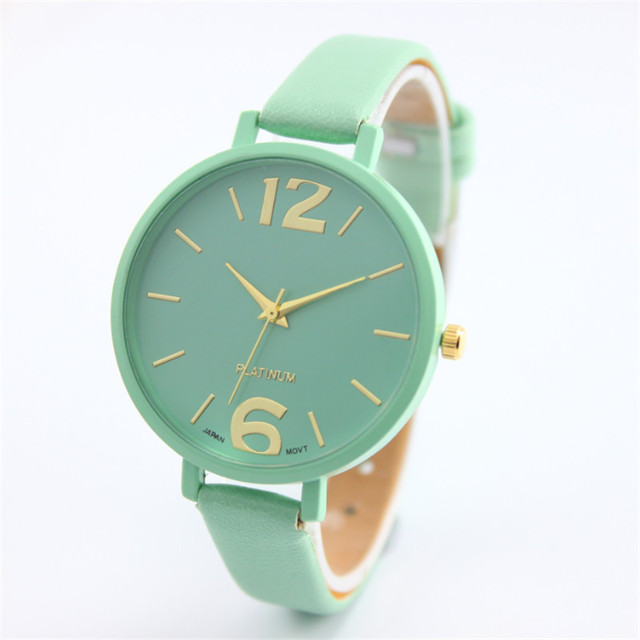Fashion Women Bracelet Watch Famous brand Ladies Faux Leather Analog Quartz Wris