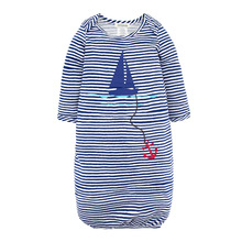 masa lapang leotard bayi Nightgown bamboo fiber striped long sleeve baby sleeping bag for children 0-24 months