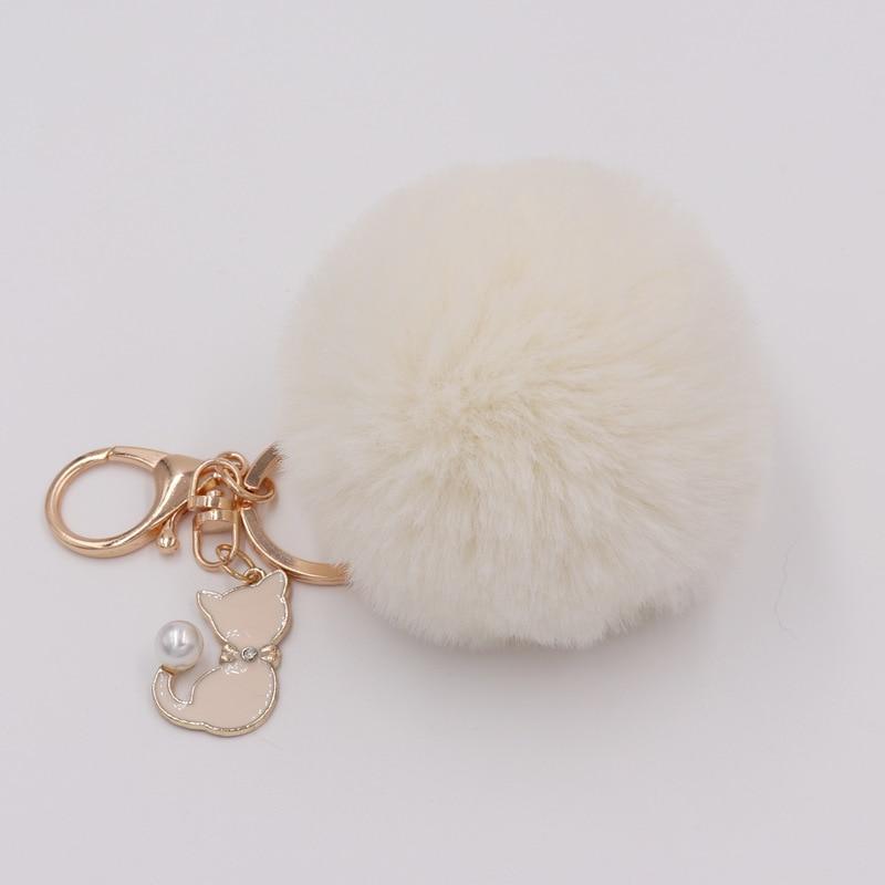 RE-Cat-Pendant-Keychain-Pompom-Rabbit-fur-ball-key-chain-fluffy-pompon-Keyring-Women-Key-Holder (4)