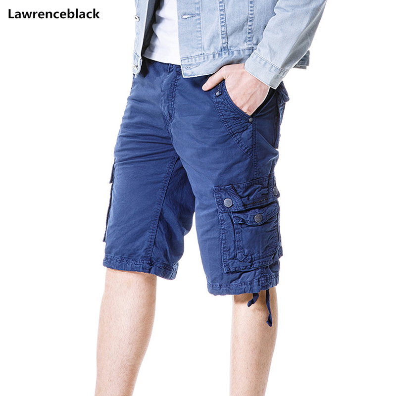 Fashion style shorts new men's military shorts cargo casual solid color Jogger multi-pocket men short trousers plus size 777