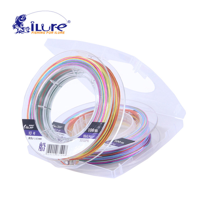 iLure 8 Braided Wire 100M PE Multifilament Braided Fishing Line Carp Fishing Rope Wire Super Fishing Line pesca portable thread