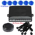 hot sale Car Backup Reversing Radar auto parking system Parking sensor 6 Sensors 1set 44 colors available buzzer sound alert