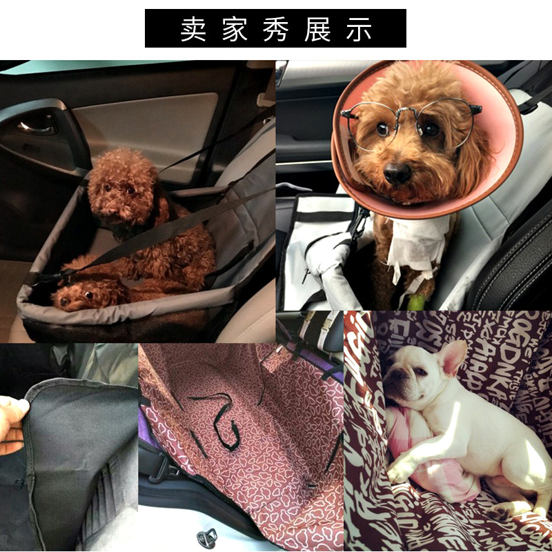 Collapsible Pet Car Booster Seats Portable Waterproof Dog Seat ...