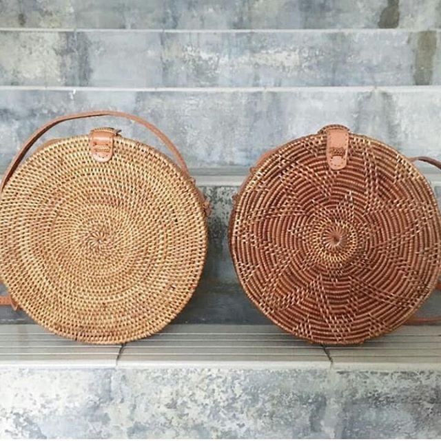 2018 Summer new rattan bag pure handmade Qiuteng basket exotic scenery rattan basket bag 3