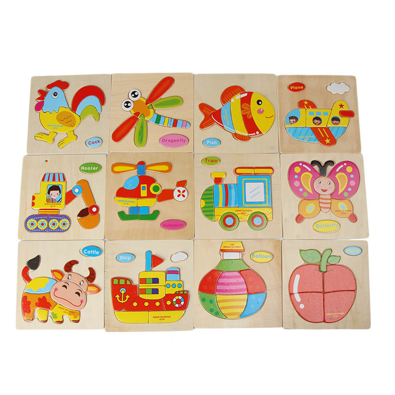 Мультфильм трехмерная головоломки небольшой Паззлы Игрушечные лошадки образования Игрушечные лошадки для детей