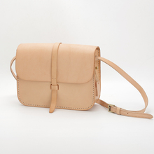 Handmade bag Vegetable tanning leather shoulder bag genuine leather European and American style Diagonal square bagFree Shipping
