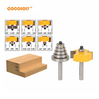 DIY Woodworking Tools 2pcs Set 1 2 Height With 6 Bearings Rabbet Router Bit Set 1