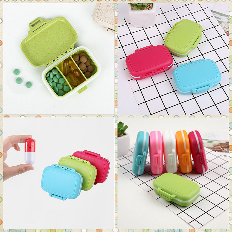 Storage Boxes & Bins Mini Drug Box Is Packed With Small Medicine Box One Week Travel Tablets And Drug 6.5x6.5cm Medicine Box Organizer Box #82015