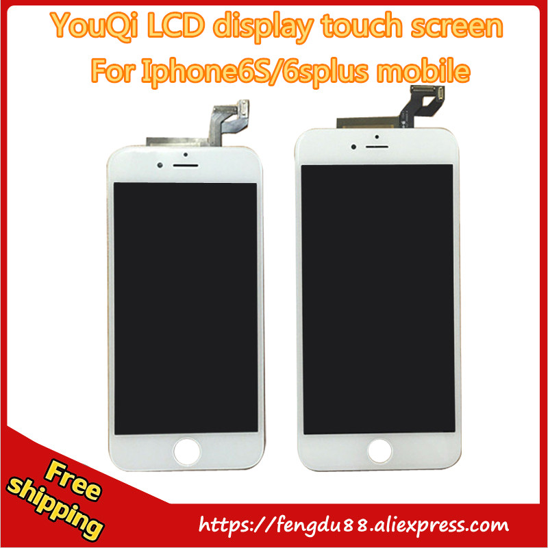 YouQi LCD display for iPhone 6s / 6S Plus LCD Display Touch Screen Digitizer Assembly Replacement Black White with 3D touch youqi 100