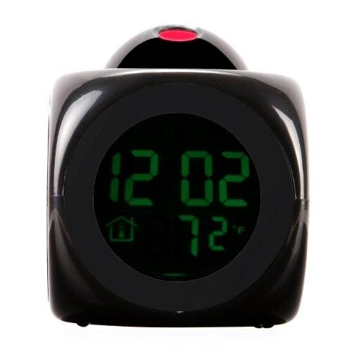 Wholesale 5* Digital LCD Voice Talking LED Projection Alarm Clock Temp Station