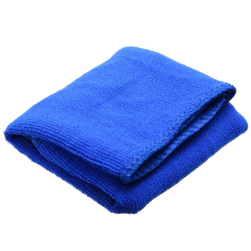 Image 2 - Blue Microfibre Cleaning Towel 10psc Soft Cloth Washing Cloth Towel Duster 30*30cm Car Home Cleaning Micro fiber Towels-in Car Washer from Automobiles & Motorcycles