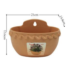 Image 5 - Modern Design Wall Plastic Hanging Basket Basin Flowerpot Halft Round Shape Plant Vase Balcony Garden Home Decor Craft Gift Hot