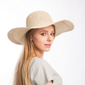 muchique women s summer beach sun hats paper straw floppy hat x large brim open.jpg 350x350
