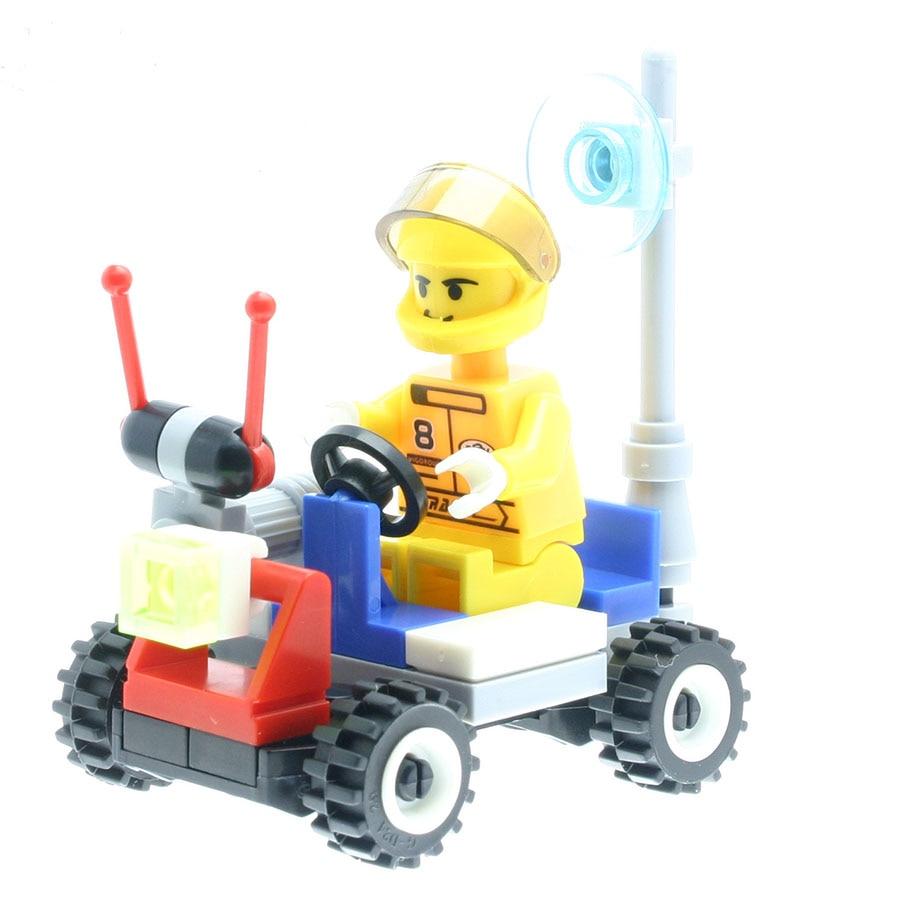37Pcs/set Police Patrol Model Figures Fancy Toys for Children Stacking Blocks Compatible with All Brands DT0086