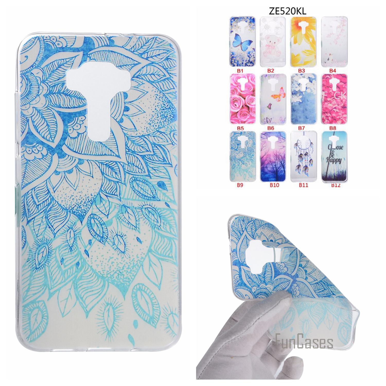 Cartoon Flower Butterfly Bear Tree Cute Back Cover Silicon Soft TPU Mobile Phone Case For ASUS ZE520KL coque Zenfone 3 ZE520KL <
