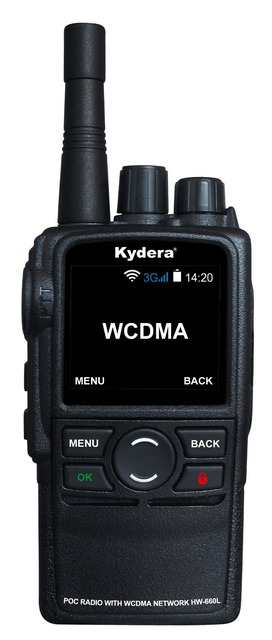 US $95 88  3G Android internet radio push to talk walkie talkie with SIM  card & wifi function HW 660L-in Walkie Talkie from Cellphones &