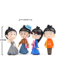 1pc/ 4pcs Mini Girl Dolls Figure Toy Ornaments DIY Micro Landscape Accessories Micro Fairy Garden Miniature/Terrarium Decoration diy mini rabbit spring decoration toy doll couple bunny decoration micro landscape decoration accessories