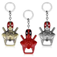 Movie Deadpool Keychains Metal Alloy Bottle Opener Keyring Man car Backpack Cosplay Chaveiro Jewelry