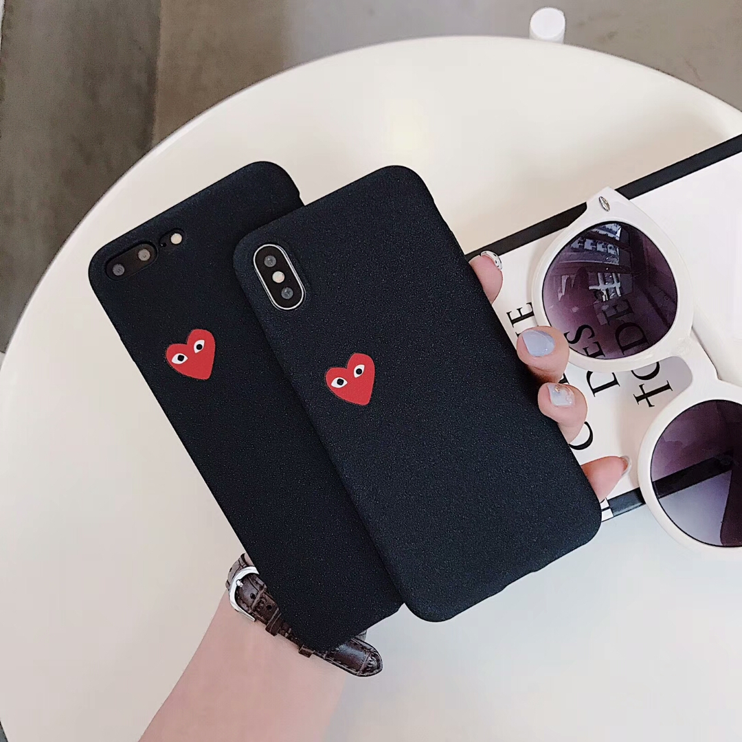 41a6f59c48 Hot Love CDG Play Comme des Garcons Soft Frosted Protect cover case for  Samsung Galaxy S6 S7 S8 S9 Plus Edge Scrub phone cases-in Fitted Cases from  ...