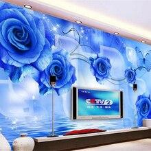 beibehang papel de parede wall paper Creative fashion high-level indoor wallpaper blue dem