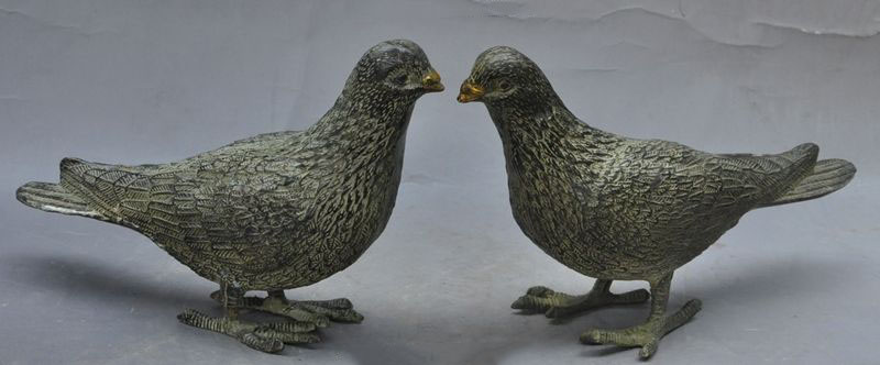 christmas 8Chinese Bronze Symbolize Peaceful Peace Dove Pigeon Bird Animal Statue Pair new Yearchristmas 8Chinese Bronze Symbolize Peaceful Peace Dove Pigeon Bird Animal Statue Pair new Year